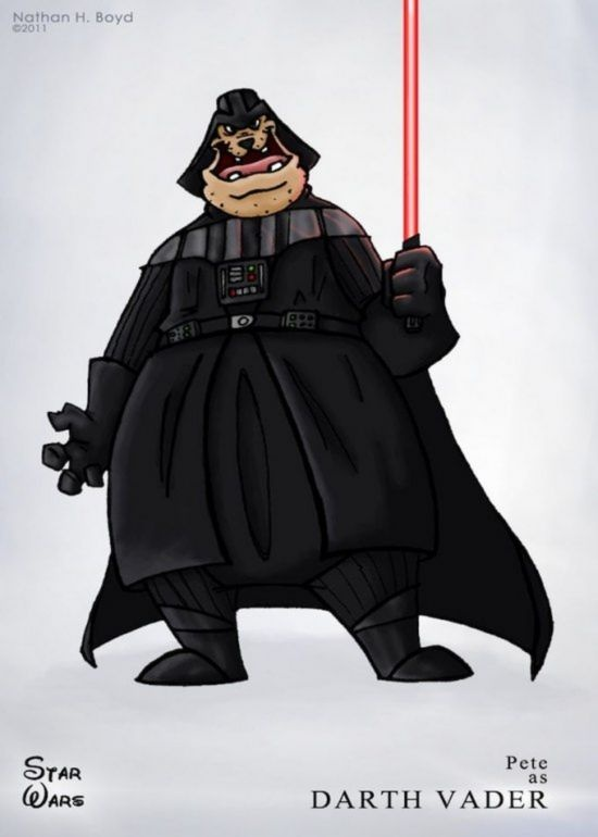 Disney Star Wars by Nathan Boyd - Pete as Darth Vader