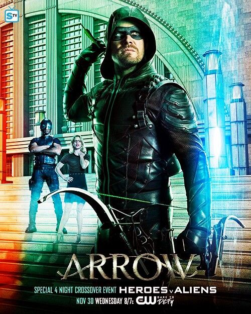 A new poster for the 4 night crossover event! #Arrow