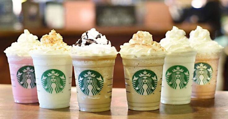Starbucks releases six new, fan-created frappuccino flavors including Cotton Candy and Cinnamon Roll.