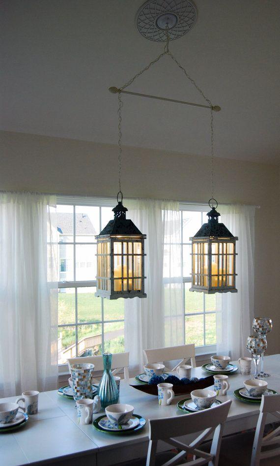 dual dining room lantern chandelier hanging by delilahscloset home sweet home. Black Bedroom Furniture Sets. Home Design Ideas