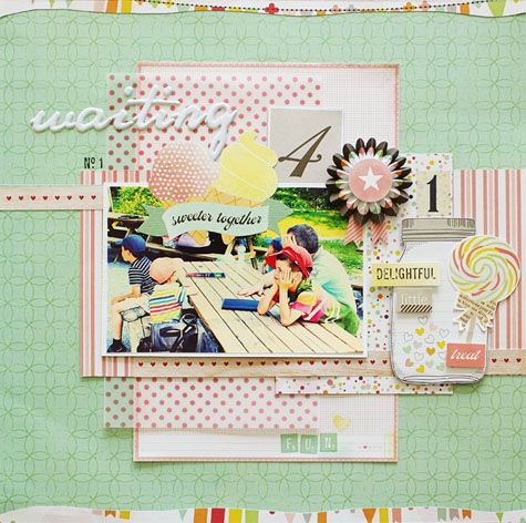 Waiting - by Lilith Eeckels using the Dear Lizzy Neapolitan collection from American Crafts. #dearlizzy #scrapbooking #layout #paperLilith Eeckl, Studios Calico, Gallery Originals, Lilith Eeckel, Scrapbook Layout, Scrapbook Gallery, Paper Crafts, Dear Lizzie, American Crafts