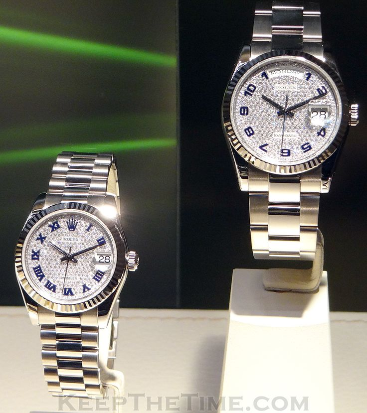Rolex Pave Diamond Day-Date Watches at Baselworld 2012