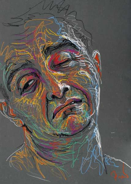 Christopher by Fred Hatt, 2007, aquarelle crayon on paper, 29 1/2 x 19 3/4. Collection the artist.