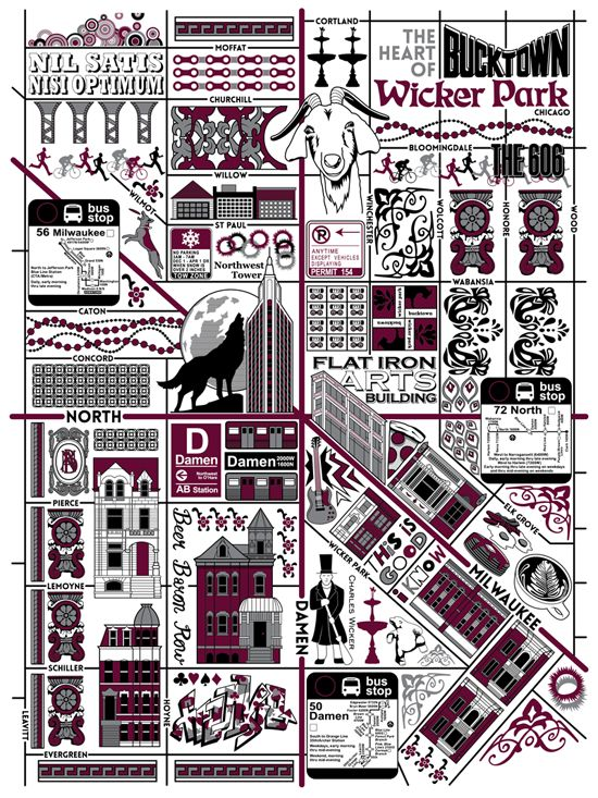 Joe Mills Bucktown Wicker Park Chicago Map Chicago