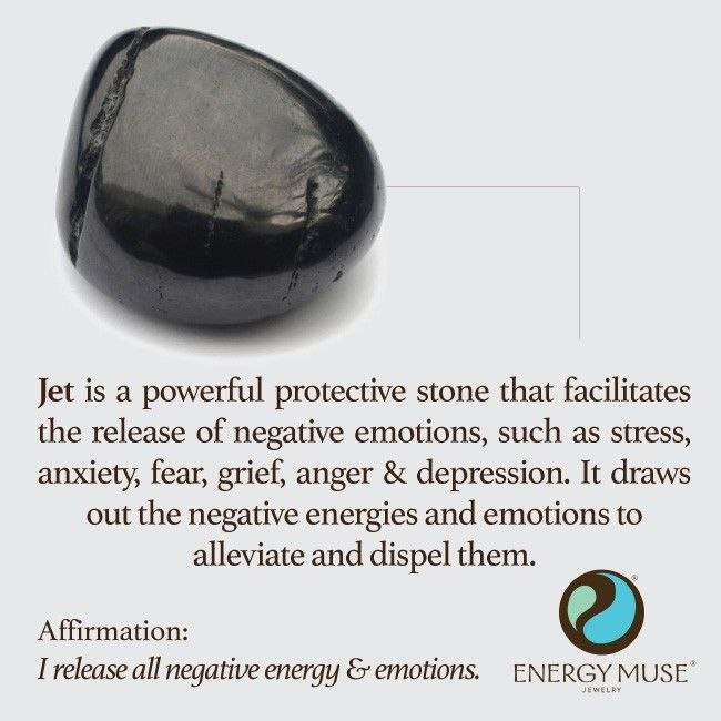 JET is a powerful protective stone that helps alleviate negative energies and emotions, such as stress, anxiety, fear, grief, anger and depression.