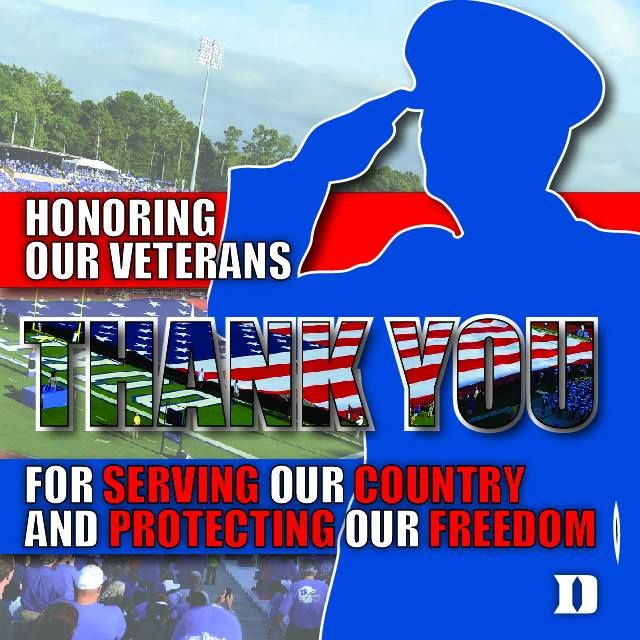 In honor of Veterans Day, we would like to invite active and retired military to attend the 11/29 Duke Football vs. Wake Forest Demon Deacons football game free of charge. To claim your tickets, please visit http://www.vettix.org/event/18584