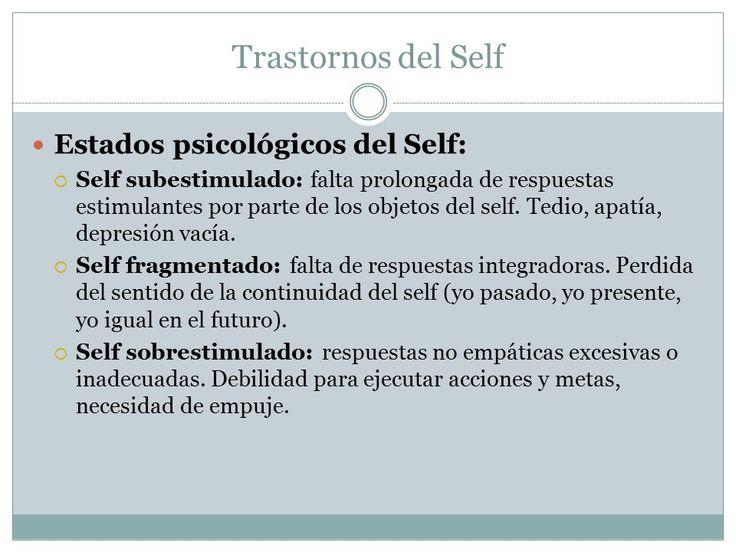 self psicologia