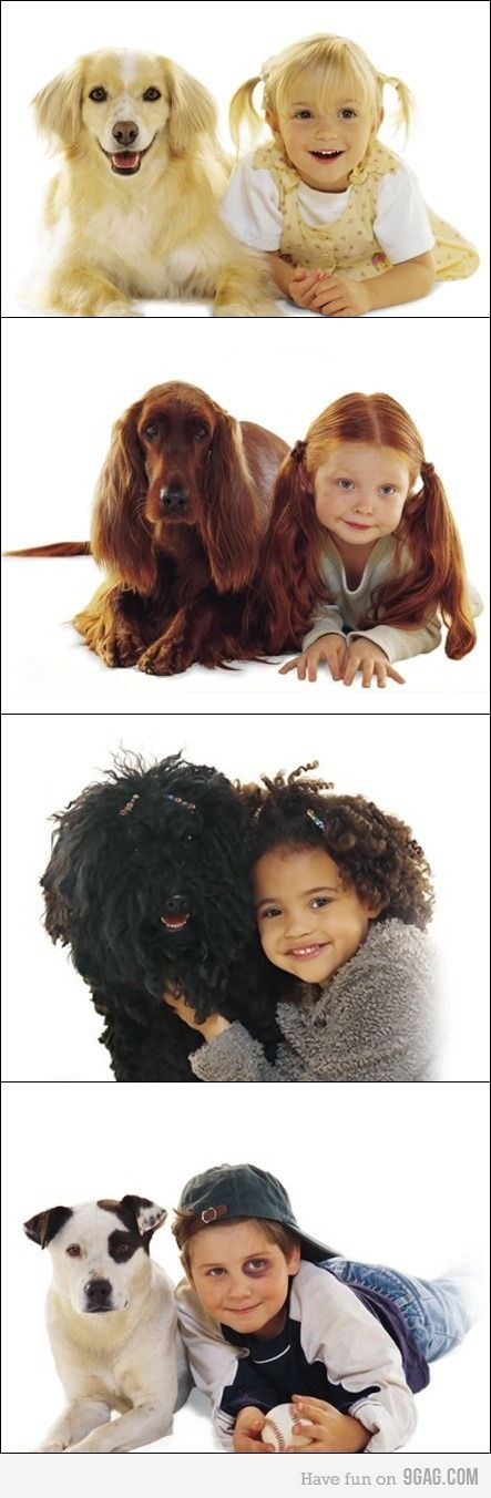 Striking resemblances between these kids and their dogs