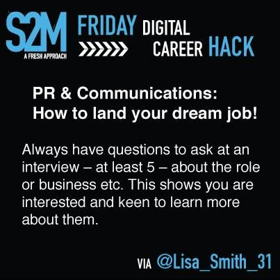 Career Hack #8 - Always have questions on hand to ask at an interview!