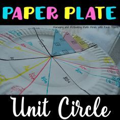Paper Plate Unit Circle, Color-coded  NO MORE MEMORIZING #unitcircle
