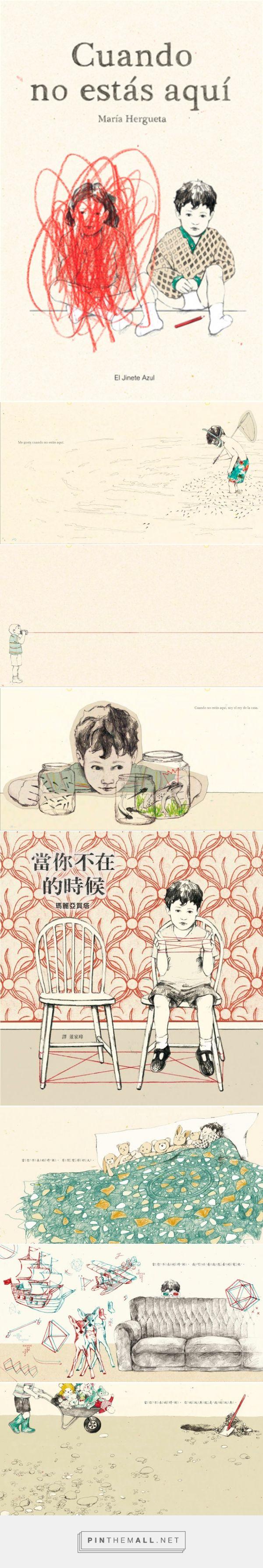 Libros y Cuentos Infantiles, Juveniles e ilustrados: Cuando no estás aquí álbum ilustrado por la ilustradora María Hergueta - created via https://pinthemall.net