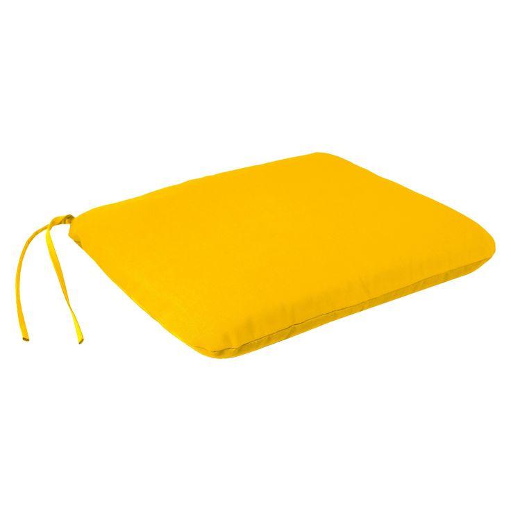 Jordan Square Dining Seat Pad - Yellow