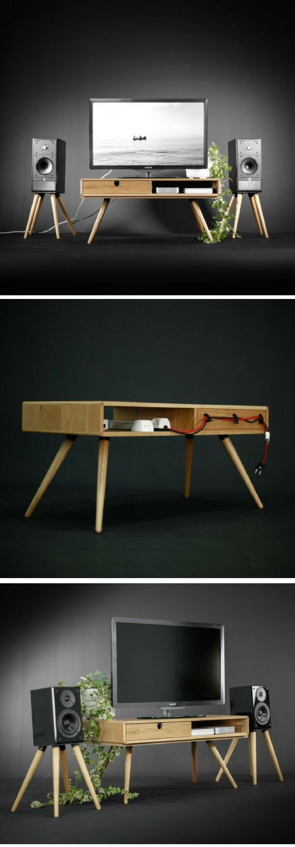 Check out the Mid-century Solid Oak TV Stand @istandarddesign …