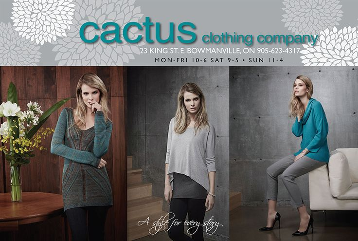 Ad design for Cactus Clothing, Bowmanville