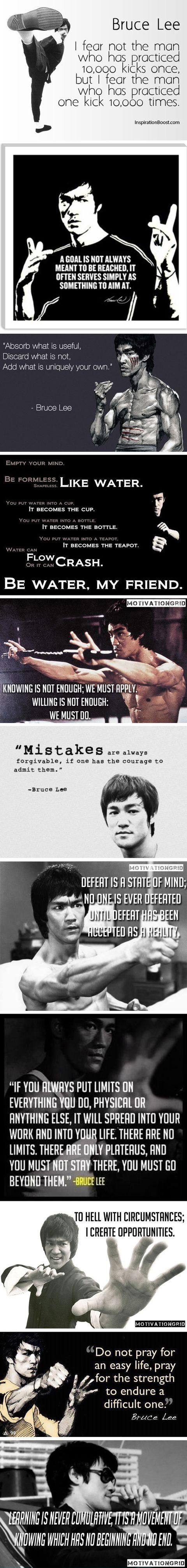 Bruce lee wisdom - some great classroom posters!