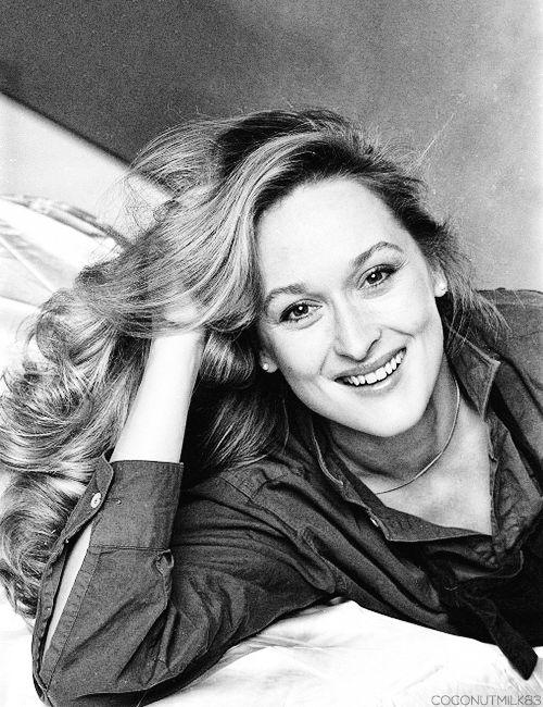 Merryl Streep, female, woman, actress, celeb, famous, portrait, photograph, photo b/w.