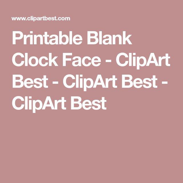 Printable Blank Clock Face - ClipArt Best - ClipArt Best - ClipArt Best