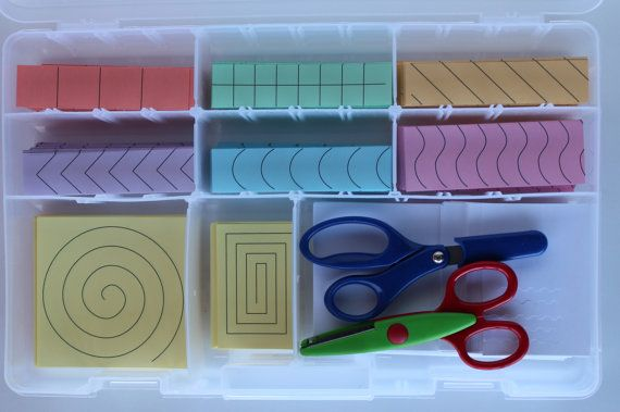 Montessori Practical Life  Cutting Paper door LivableLearning, $25.00