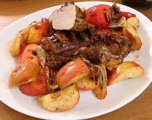 Recette Filet mignon de porc aux pommes et chorizo