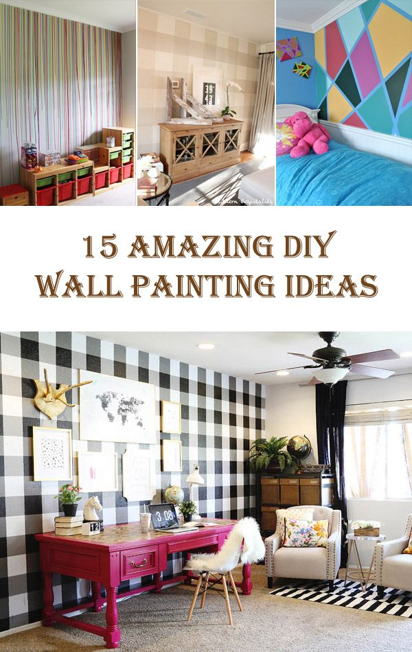 15 Amazing DIY Wall Painting Ideas