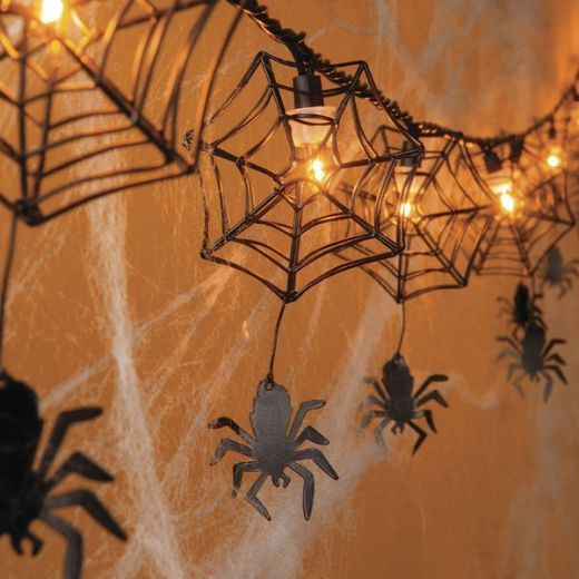 it would be easy to refashion hanging lights for halooween