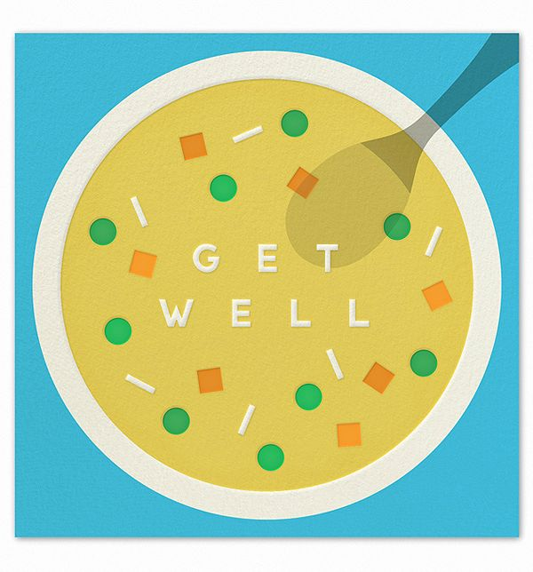 Get Well Kit Ideas: Soups, Graphic Design, Idea, Cards Get Well, Illustration, Cards Tags, Paperless Post, Get Well Cards