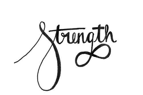 infinity tattoo with the word strong | More than I ever give myself credit for, really. I am strong. I am ...