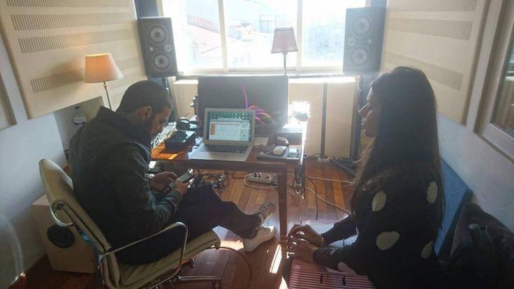 Cuca Roseta e Diogo Clemente em estúdio - Início das gravações do quarto Álbum  www.cucaroseta.com