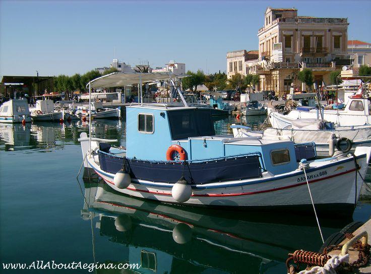 The town of Aegina, a beautiful Greek island close to Athens