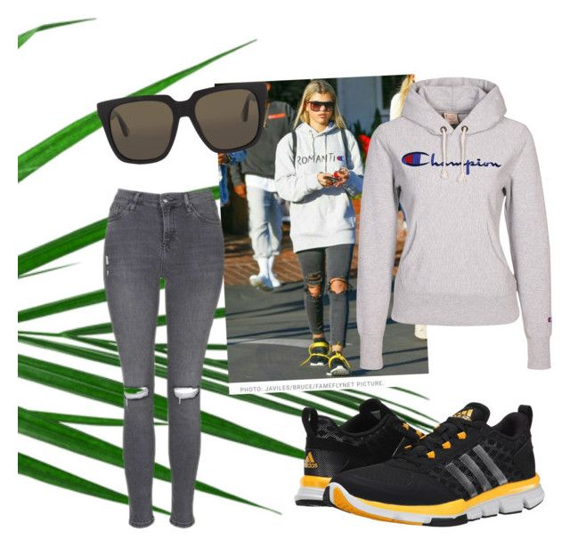 """""""Simple but kinda Cool"""" by sinihanna on Polyvore featuring adidas, Champion and Ann Demeulemeester"""