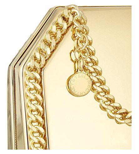 STELLA MCCARTNEY Falabella hard clutch (Gold