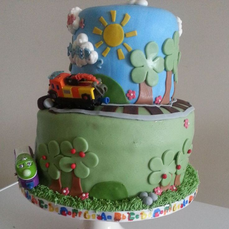 Best Chuggington Party Ideas Images On Pinterest Birthday - Chuggington birthday cake