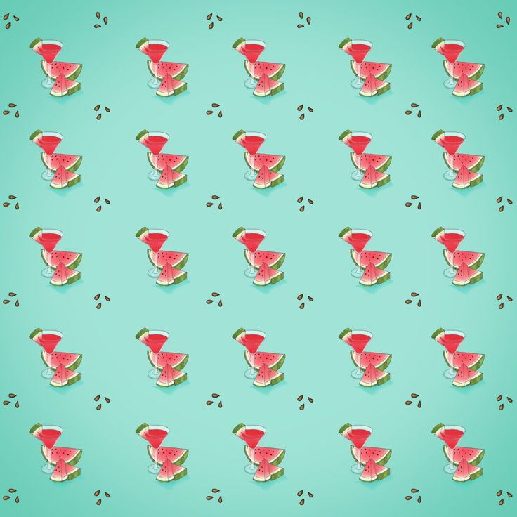 Watermelon pattern. #watermelon #pattern #texture #daikiri #summer #turquoise #fresh #artwork #illustration #art #design