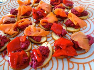 Pink smoked trout and other on pinterest for Smoked trout canape