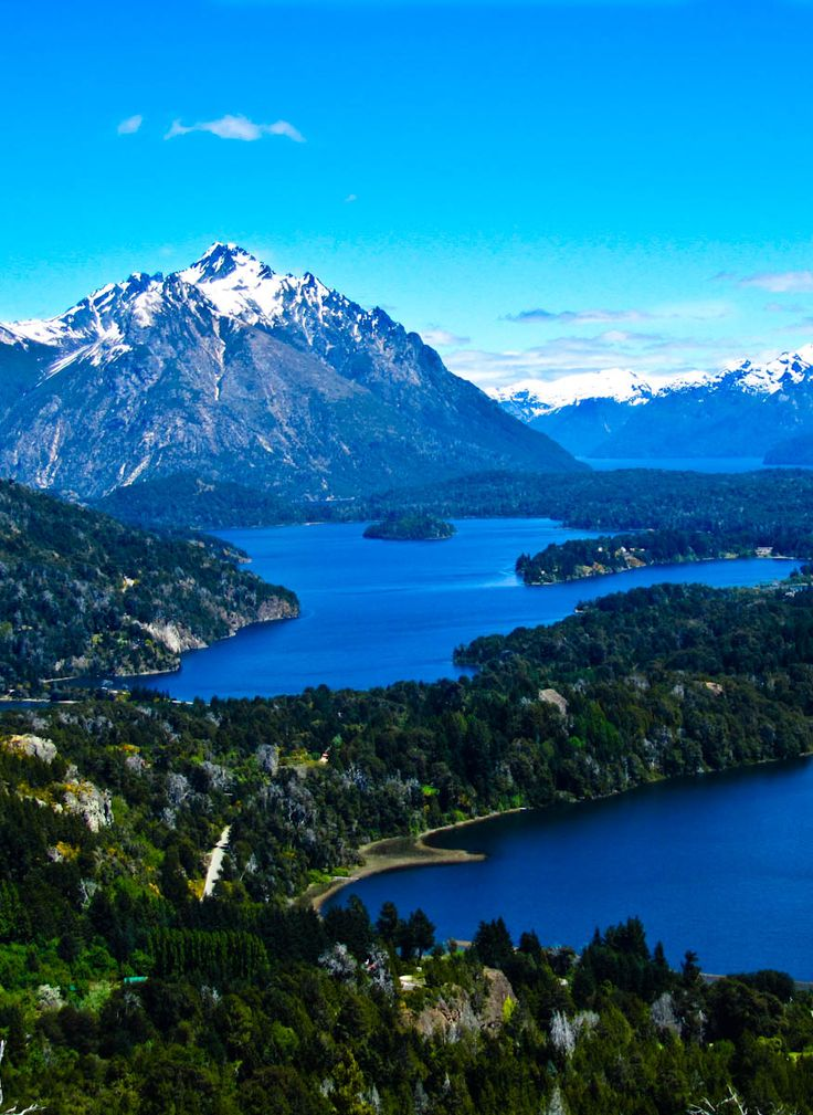 Bariloche, Argentina Lagos Morenos and at the back, Lago Nahuel Huapi