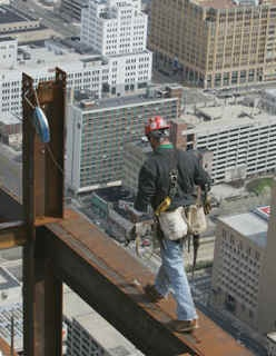 Ironworker - the 6th most dangerous job.