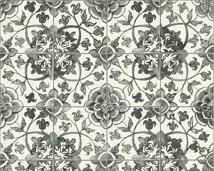 25+ parasta ideaa Pinterestissä Fliesen tapete Tapete grau weiß - fliesen tapete küche