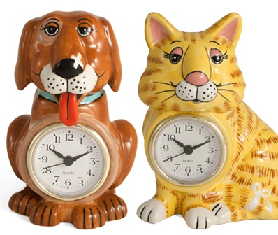 Gary Patterson's whimsical 3D clocks. On sale now at lelepets.com!