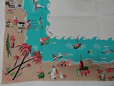 Vintage Kitchen 50s Kitschy Vintage Style Tablecloth Beach Flamingo MODA HOME