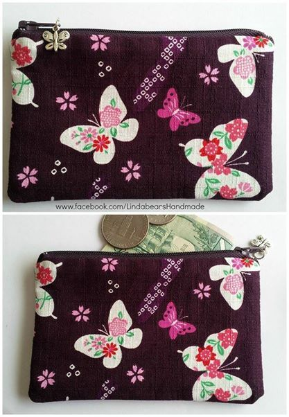 Purple Oriental Style Butterfly Purse Anything Goes Market Night opens at 9pm, on Tuesday 20th May, 2014