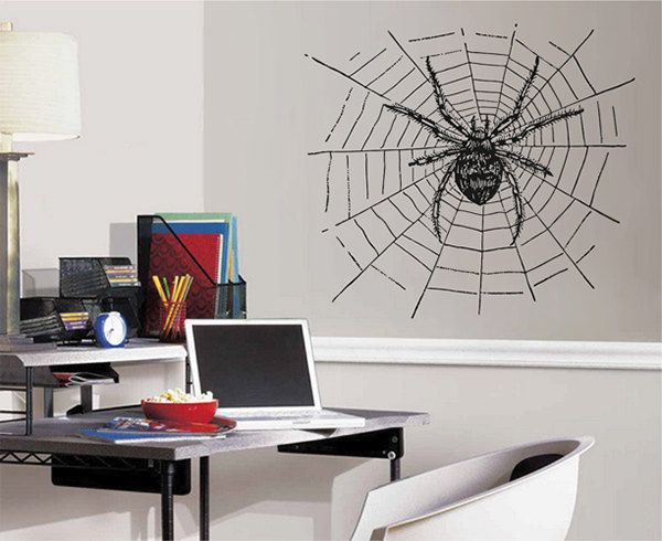 kik2447 Wall Decal Sticker Spider web living room bedroom