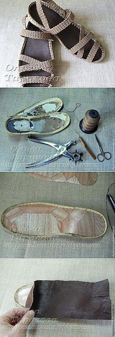 """Мастер-класс: """"Вязаные сандалии, или Обувь из ничего"""" - Ярмарка Мастеров - ручная работа, handmade"""