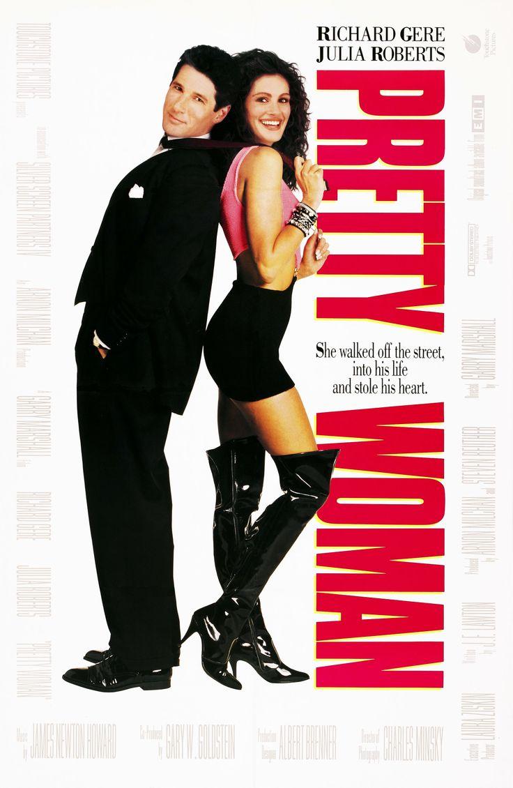 """Pretty Woman"" (1990). COUNTRY: United States. DIRECTOR: Garry Marshall. CAST: Julia Roberts, Richard Gere, Hector Elizondo, Jason Alexander, Ralph Bellamy, Laura San Giacomo, Hank Azaria"