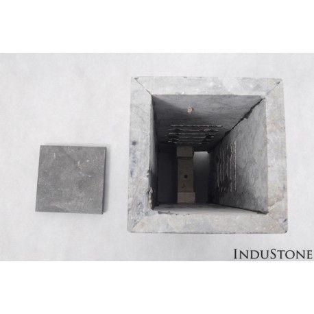 LS KOTAK kamienna lampa ogrodowa INDUSTONE  Wymiary: 15x15x40 cm Waga: 16 kg