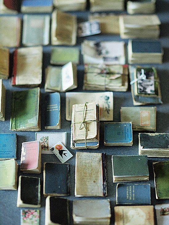 Handmade Miniature Books~Image via Natural Color of Life