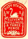 Circa 1907 Western Australia impressed duty stamp