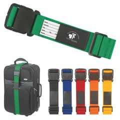 Luggage Strap/Bag Identifier - Help your customers find their bag by giving them this great promotional product!  This item is heavy duty and provides a space for a business card or identification card!