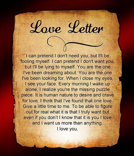 Best 25 Romantic letters for him ideas – Sample Romantic Love Letter