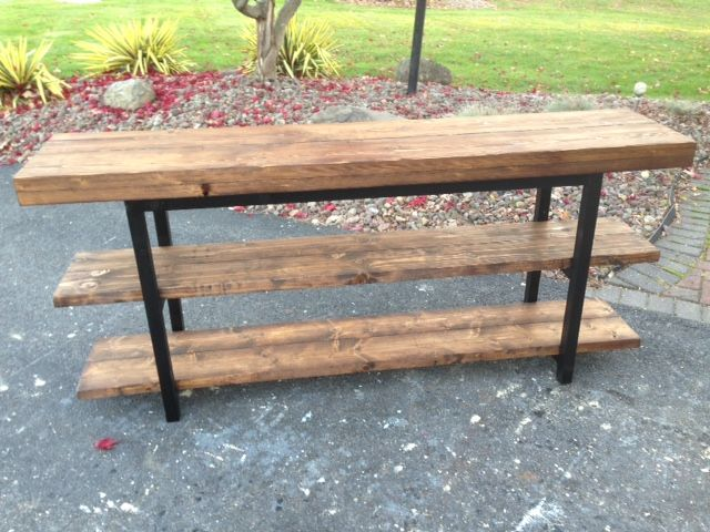 Griffen pottery barn inspired Media Console Table | Do It Yourself Home Projects from Ana White