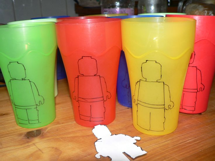 LEGO plastic party glass. LEGO buli műanyag pohár.